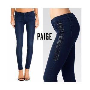 NEW Paige Verdugo Skinny Jeans Rhinestone Sides